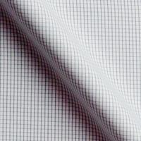 ホワイト / グレー チェック柄の生地を各15cm