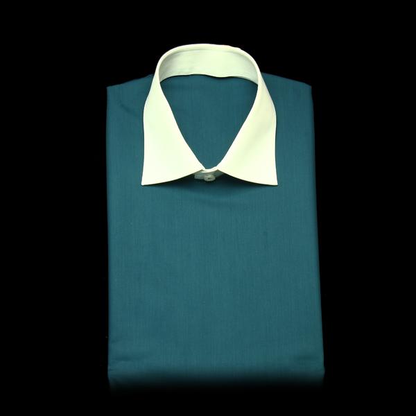 無地柄のブルーグリーンでクレリック見本
