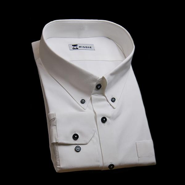 ホワイトストライプシャツ
